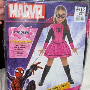 babygirl spider-man outfit - brand new